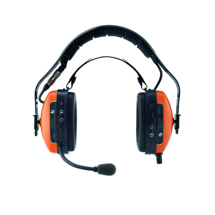 Frontansicht CT-DECT Atex Headset